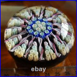 LARGE VTG Perthshire Scotland Glass Millefiori Large 2.75 paperweight Labelled
