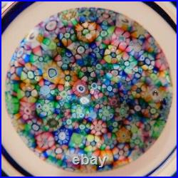 LOVELY& SCARCE Perthshire PP15 PATTERNED MILLEFIORI ArtGlass Paperweight INKWELL