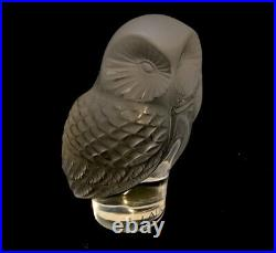 Lalique Glass Owl Paperweight
