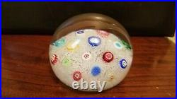 Large Vintage Baccarat Spaced Millefiori on Lace Paperweight 1972