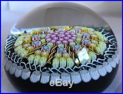 Large Vintage Perthshire Millefiori 10 Spoke art glass paperweight. Outstanding
