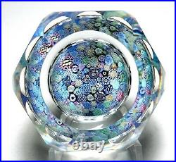 Large Whitefriars 1974 Faceted Closepack Millefiori Paperweight