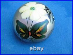 Lovely Vintage ORIENT AND FLUME BUTTERFLY/FLOWER PAPERWEIGHT 3, 1976, w. Tag