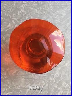 MASSIVE Vintage 1970s Viking Glass Psychedelic Red Uranium Vaseline Mushroom