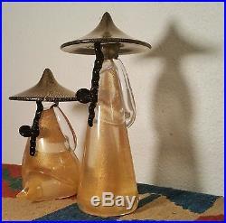 MCM Barovier & Toso gold flecking vtg art glass zen sculpture murano paperweight
