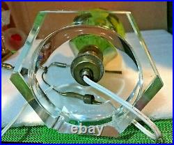 MCM St. Clair Paperweight Lamp Yellow CALLA LILIES