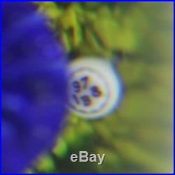 Marvelous BACCARAT Vintage COBALT Blue BUTTERFLY Art Glass PAPERWEIGHT