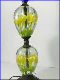 Mid-Century, Modern, Vintage St. Clair trumpet flower Paperweight Lamp