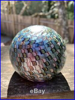 Mint Large Vintage Signed/Numbered Orient & Flume Iridescent Paperweight