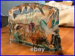 Murano Art Glass Fish Aquarium Coral Reef Sculpture Paperweight 6104