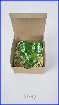 NEW Fire & Light Glass Recycled Signed Celery Heart Paperweight