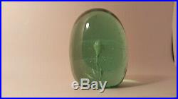 NICE ANTIQUE ENGLISH Bottle Glass with SINGLE Layer FLOWER Art Glass Paperweight