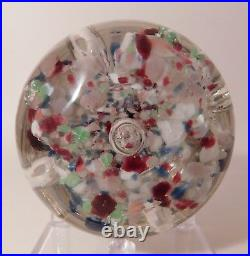 Nice Millville ELONGATED FOOTED Rainbow Colored Umbrella Art Glass Paperweight