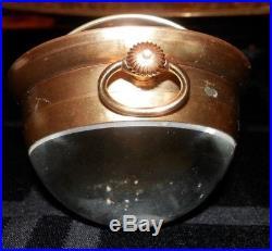 OLD SWISS Art Glass / CRYSTAL BALL / Paperweight CLOCK vintage European $$$