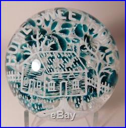 OUTSTANDING Vintage HOME SWEET HOME Frit by ED RITHNER Art Glass Paperweight