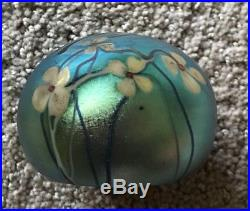 OUTSTANDING & Vintage SIGNED 1975 ORIENT & FLUME DRAGONFLY Art Glass Paperweight