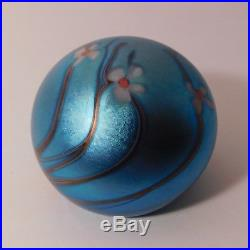 OUTSTANDING & Vintage SIGNED 1976 ORIENT & FLUME DRAGONFLY Art Glass Paperweight