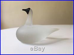 Oiva Toikka Vintage Art Bird Snow Goose 1991 Littala Nuutajarri Findland