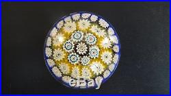 Old Italian Murano Millefiori Art Glass Paperweight Vintage