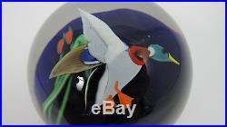 Orient and Flume Vintage Glass Mallard Duck Paperweight Lampwork