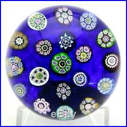 Outstanding PERTHSHIRE Vintage MILLEFIORI CANES Art Glass PAPERWEIGHT In Box