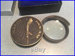 PAN AM AIRLINES PAA 747 First CLIPPER Vtg Magnifier Magnifying Glass Paperweight