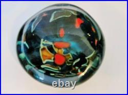 PETER LAYTON British Studio Art Glass Pebble Paperweight Signed