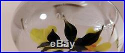 PHENOMENAL & Vintage Rick Ayotte SCARLET TANNENGER Lampwork ArtGlass PAPERWEIGHT