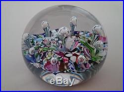Paul Ysart Rare Large Vintage 1970s Harland Period Harlequin Glass Paperweight