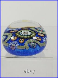 Perthshire Lim. Edition 1989 Paperweight PP121 Centre Colored Head Marmalade Cat