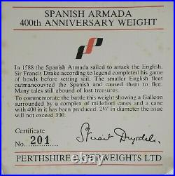 Perthshire Ltd Special Edition Spanish Armada Paperweight 201/256 withBox & Cert
