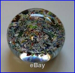 Perthshire Vintage Art Glass Paperweight Millefiori Canes Crieff Scotland
