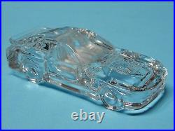 Porsche 944 LM Race Car Auto Paperweight Glass Lead Crystal Car