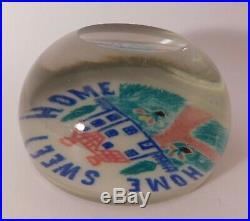 RARE ANTIQUE Millville HOME SWEET HOME ArtGlass Paperweight Circa 1880-1915