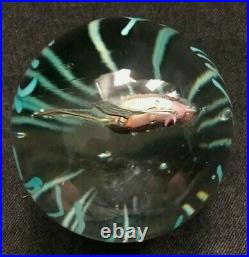 RARE Vintage FRATELLI TOSO MURANO Art Glass Paperweight Fish Great Quality