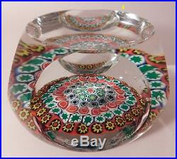 RARE and Vintage JOHN GENTILE CLOSED PACKED MILLEFIORI Art Glass Paperweight