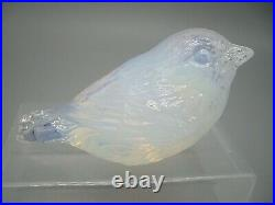 RARE vintage Murano label matching desk set blue opalescent glass Salviati