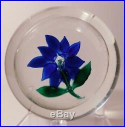 RAVISHING & APPEALING Antique SANDWICH COBALT BLUE POINSETTIA Ca. 1880 1910
