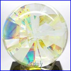 ROBERT W. STEPHAN Dichroic Globe Sphere Glass Sculpture/Paperweight, Apr 5(dia)