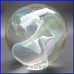 RW Robert Stephan Paperweight Vintage 1980 Signed Handblown Studio Art Glass