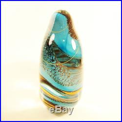 RYBKA Vintage Carved Studio Glass Paperweight Signed Circa 2003