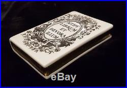 Rare Vintage 1950's Porcelain Paperweight Book By Piero Fornasetti