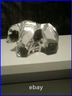 Rare Vintage Baccarat Grizzly Bear Figurine/paperweight -stamped/ Mint