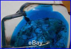 Rare Vintage Maltese Mdina Fish Head / Axe Head Vase Perfect Present