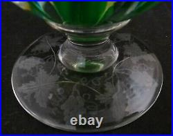Rare Vintage Pairpoint Footed Crystal Paperweight with Yellow Rose. 4 ½ t