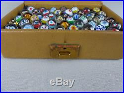 Rare Vintage or Antique Set of 48 Miniature Art Glass Paperweights Sales Sample