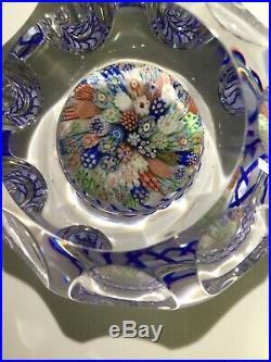 Rare Vtg. Wonderful BACCARAT Concentric MILLEFIORI CANE Art Glass PAPERWEIGHT