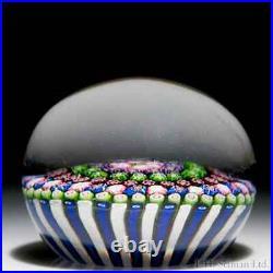 Rare antique Clichy concentric millefiori glass paperweight
