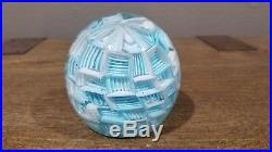 Rare vintage Murano Glass Millefiori Paper Weight By Fratelli Toso