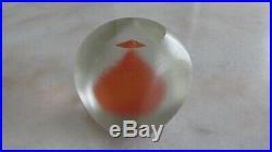 Rare vintage VENINI Inciso MURANO ART GLASS PAPERWEIGHT mcm FREE SHIPPING